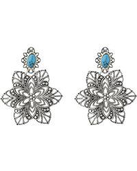 Sam Edelman Floral Chandelier Earrings - Lyst
