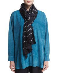 Eskandar - Chevron Shibori Silk Scarf - Lyst