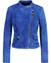 Barbara Bui Leather Outerwear blue - Lyst