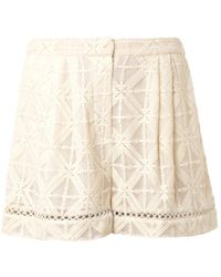 Zimmermann Haze Crossstitch Shorts - Lyst