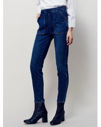 Free People | Womens Sparrow Patch Pocket Skinny | Lyst