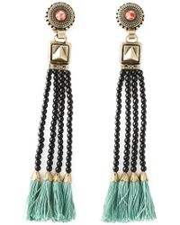 Etro - Tassel Bead Fringed Earrings - Lyst