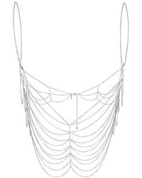 Topshop Chain Bralet silver - Lyst