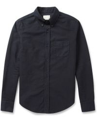 Band Of Outsiders Buttondown Collar Cotton Oxford Shirt - Lyst