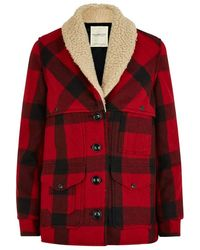 Denim & Supply Ralph Lauren - Plaid Shearling Coat - Lyst