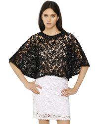 Etoile Isabel Marant Cotton Crocheted Lace Cape - Lyst