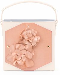 Bet Barcelona Nude Leather Flower Canvas pink - Lyst