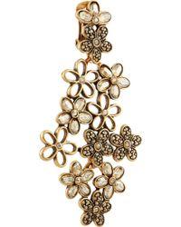 Oscar de la Renta Gold- -Plated Crystal Clip Earrings - Lyst