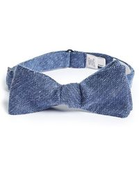 W.r.k. - Solid Silk & Cotton Bow Tie - Lyst