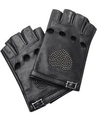 Valentino Cash & Rocket Studded Fingerless Leather Gloves - Lyst