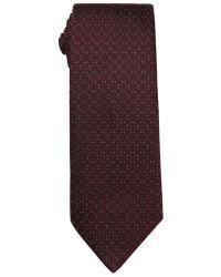 Hermès Violet And Olive Logo Print Silk Tie - Lyst
