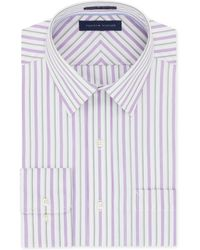 Tommy Hilfiger Non-Iron Fuchsia Stripe Dress Shirt - Lyst