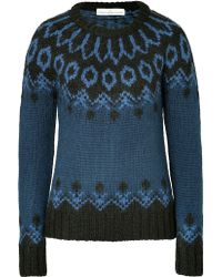 Golden Goose Deluxe Brand Wool Blend Patterned Knit Pullover - Lyst