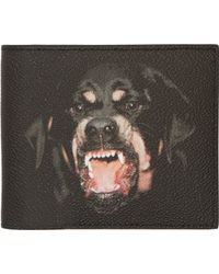 Givenchy Black Rottweiler Bifold Wallet - Lyst