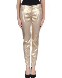 D&G Gold Casual Trouser - Lyst