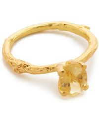 Alex Monroe - Citrine Twig Ring - Lyst