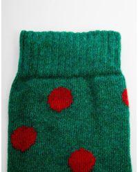 Cath Kidston - Button Spot Gumboot Socks - Lyst