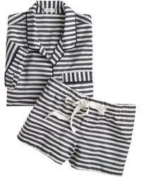 J.Crew Shortsleeve Sleep Set in Stripe - Lyst