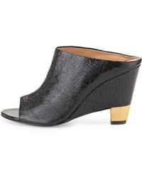 Vc Signature - Tamiko Cracked Leather Open Wedge Mule - Lyst