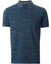 Armani Jeans Logo Print Polo Shirt - Lyst