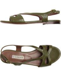 L'Autre Chose Sandals green - Lyst