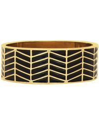 House Of Harlow Enameled River Cuff Black - Lyst