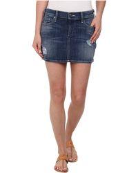 True Religion Alexia High Thigh Mini Skirt In Destroyed Playa Lagoon green - Lyst