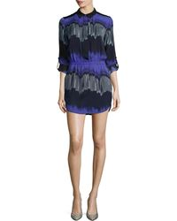 Halston Heritage Long-Sleeve Printed Shirtdress - Lyst