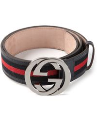 Gucci Blue Signature Belt - Lyst