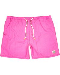 River Island Fluro Pink Short Swim Trunks - Lyst