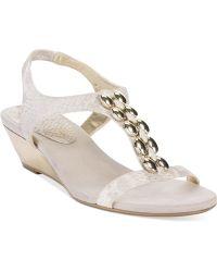 Anne Klein Damek Wedge Sandals - Lyst