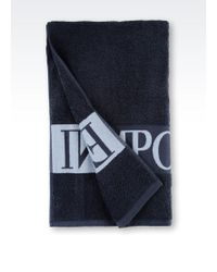 Emporio Armani Blue Beach Towel - Lyst