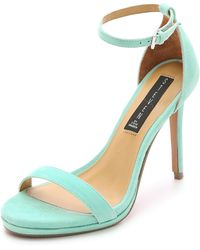 Steven by Steve Madden Rykie Suede Single Band Sandals - Mint - Lyst