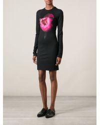 Christopher Kane Rose Print Dress - Lyst