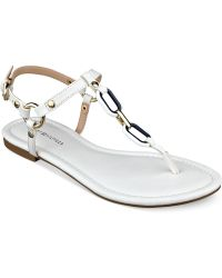 Tommy Hilfiger Shelley Flat Thong Sandals white - Lyst