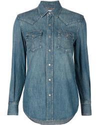 Saint Laurent   Western Denim Shirt   Lyst