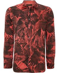 Diesel All Over Crow Print Shirt - Lyst