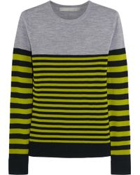 Jason Wu Striped Wool Sweater - Lyst