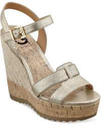 G by Guess Women'S Pretty Platform Wedge Sandals - Lyst