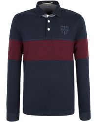 Racing Green Garton Chest Stripe Rugby Shirt - Lyst