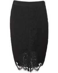 Rachel Zoe Corded Lace Pencil Skirt black - Lyst