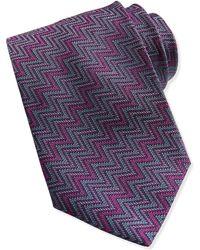 Missoni Horizontal Zigzag Knit Tie - Lyst
