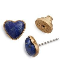 Tory Burch - Heart Earring Stud - Lyst