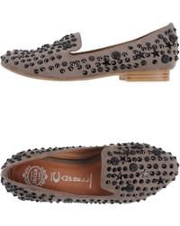 Jeffrey Campbell Gray Moccasins - Lyst