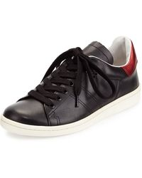 Isabel Marant Bart Metallic-detailed Leather Low-top Sneaker - Lyst
