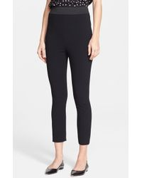 Dolce & Gabbana Stretch Cady Crop Pants - Lyst