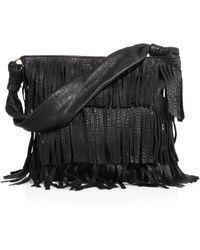 Mr. Hudson Fringe Bubble-Leather Shoulder Bag - Lyst
