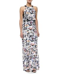 Parker Maui Abstract-Print Combo Maxi Dress - Lyst