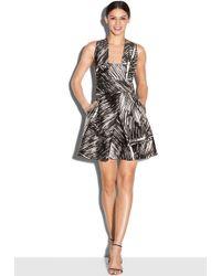 Milly | Scribble Print Elisa Mini Dress | Lyst