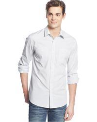 American Rag Striped Pocket Shirt - Lyst